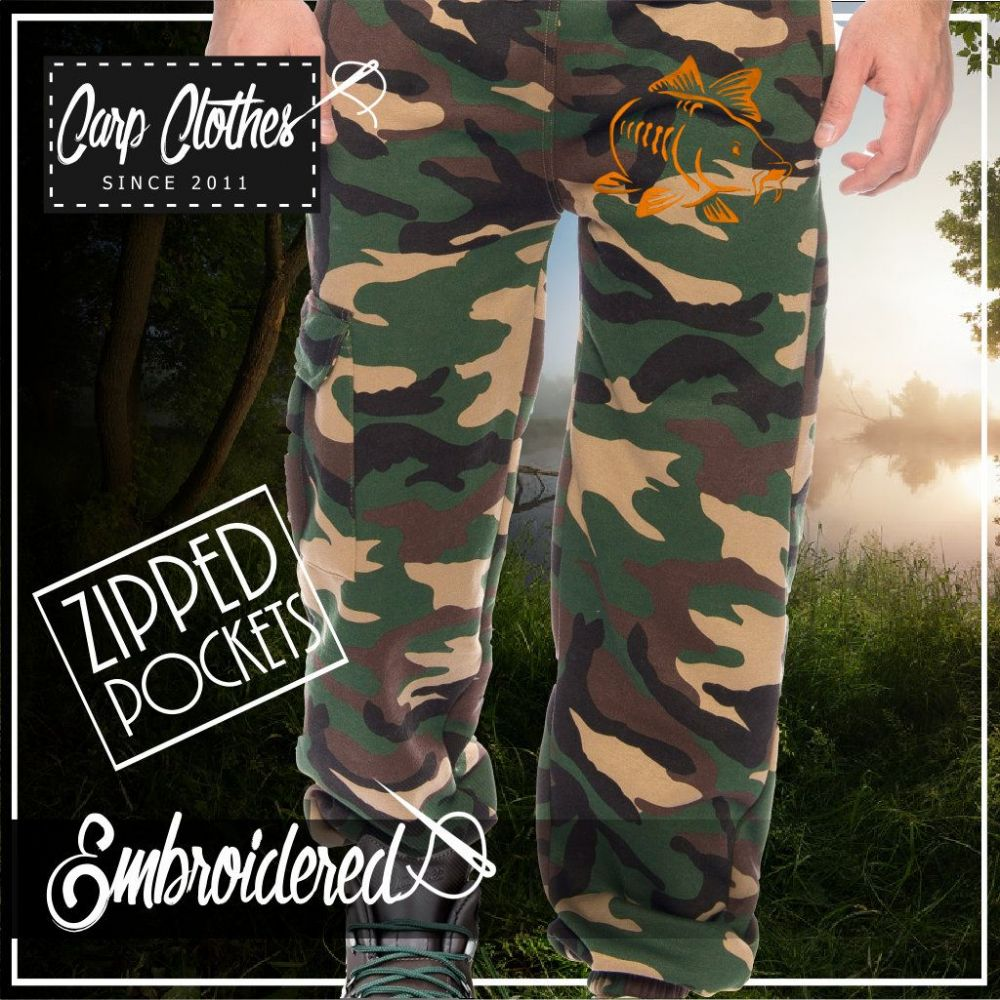 003 EMBROIDERED CAMO JOGGERS